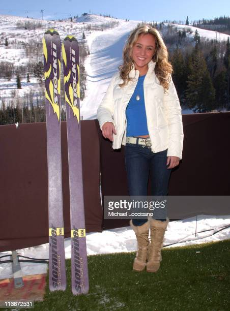 Lauren C Mayhew wearing Napapijri with Stockli at The Ice Lounge presented by The North Face Lexus and St Regis*Exclusive*