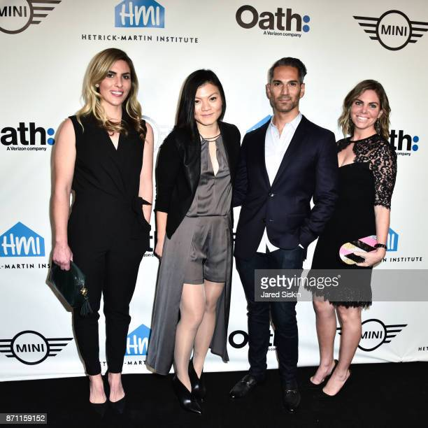Lauren Casselberry Li Ng Michael Lopez and Natalie Turk attend HetrickMartin Institute's 2017 Pride Is Emery Awards at Cipriani Wall Street on...