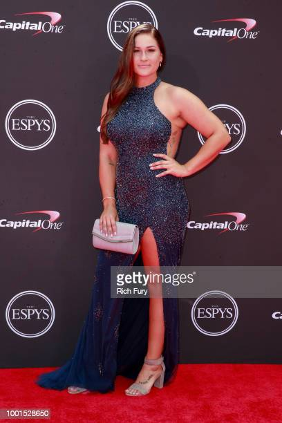 Lauren Chamberlain attends the 2018 ESPYS at Microsoft Theater on July 18 2018 in Los Angeles California