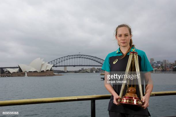 Lauren Cheatle during the Australian Ashes Squad Announcement at Mrs Macquarie's Chair on October 10 2017 in Sydney Australia