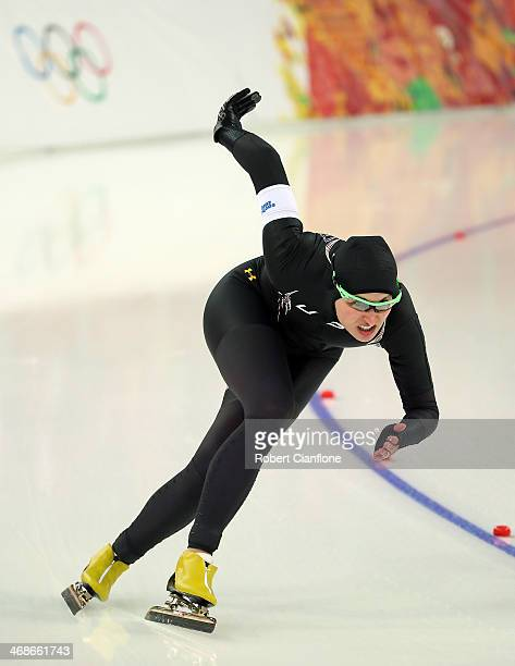 Lauren Cholewinski of the United States competes during the Speed Skating Women's 500m Run 1 of 2 during day four of the Sochi 2014 Winter Olympics...