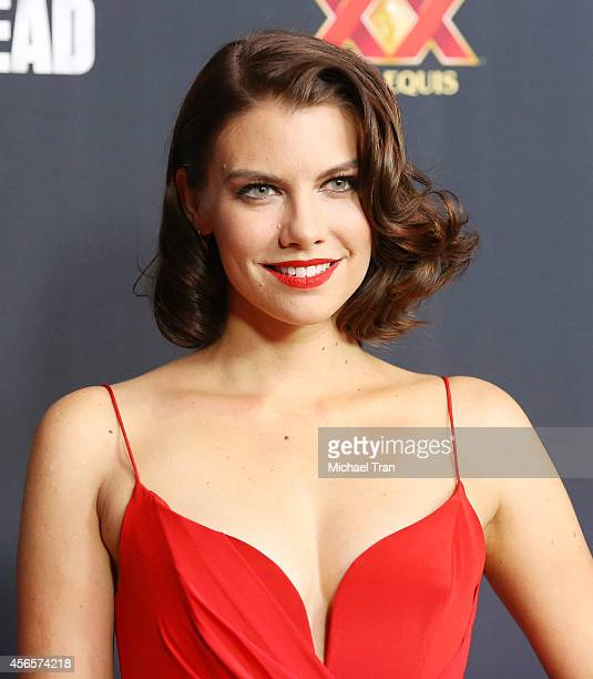 "Lauren Cohan arrives at AMC's ""The Walking Dead"" Season 5 Premiere held at AMC Universal City Walk on October 2, 2014 in Universal City, California."