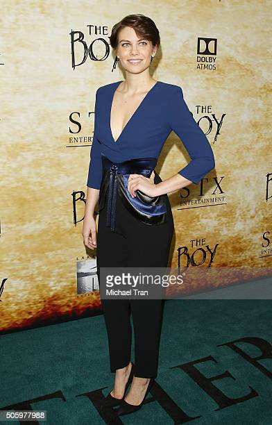 Lauren Cohan arrives at the Los Angeles premiere of The Boy held at Cinemark Playa Vista on January 20 2016 in Los Angeles California