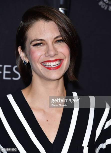 Lauren Cohan arrives at the The Paley Center For Media's 34th Annual PaleyFest Los Angeles Opening Night Presentation 'The Walking Dead' at Dolby...