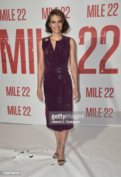 Lauren Cohan attends a photo call for STX Films' Mile 22 at Four Seasons Hotel Los Angeles at Beverly Hills on July 28 2018 in Los Angeles California