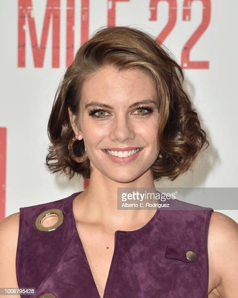 "Lauren Cohan attends a photo call for STX Films' ""Mile 22"" at Four Seasons Hotel Los Angeles at Beverly Hills on July 28, 2018 in Los Angeles,..."