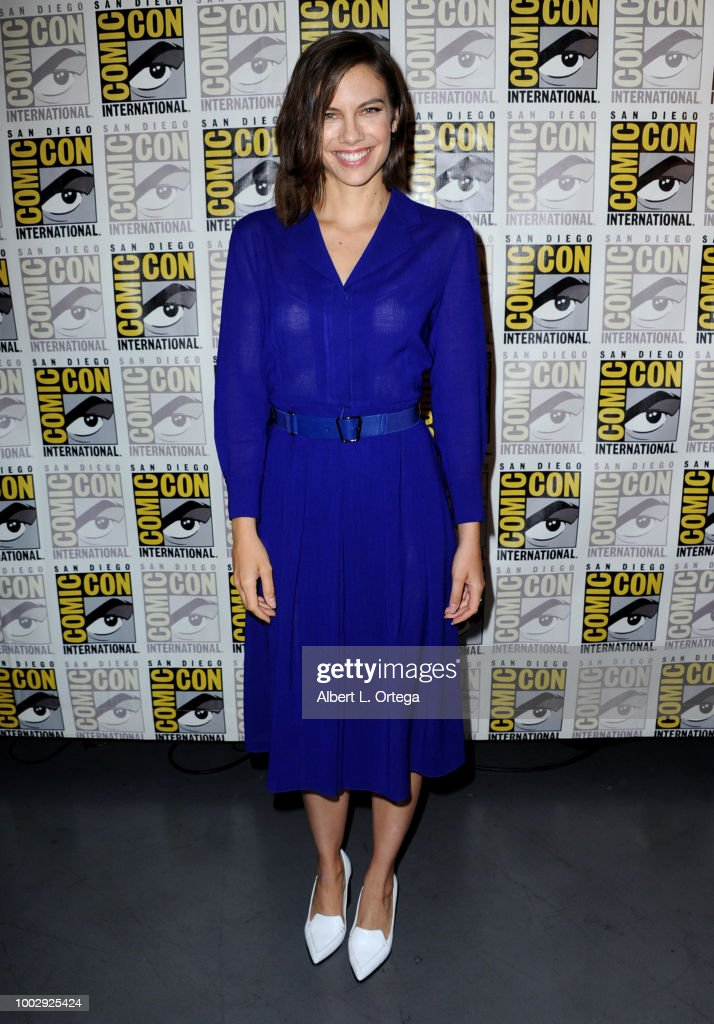 Lauren Cohan attends AMC's 'The Walking Dead' panel during Comic-Con International 2018 at San Diego Convention Center on July 20, 2018 in San Diego, California.