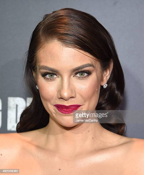 "Lauren Cohan attends AMC's ""The Walking Dead"" Season 6 Fan Premiere Event 2015 at Madison Square Garden on October 9, 2015 in New York City."