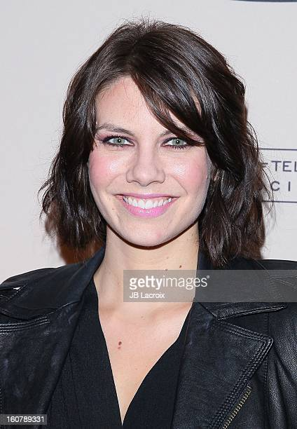 """Lauren Cohan attends an evening with """"The Walking Dead"""" presented by The Academy Of Television Arts & Sciences at Leonard H. Goldenson Theatre on..."""
