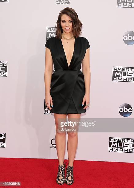 Lauren Cohan attends the 2014 American Music Awards at Nokia Theatre LA Live on November 23 2014 in Los Angeles California