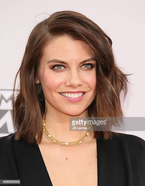 Lauren Cohan attends the 2014 American Music Awards at Nokia Theatre L.A. Live on November 23, 2014 in Los Angeles, California.