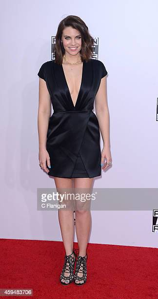 Lauren Cohan attends the 42nd Annual American Music Awards at Nokia Theatre LA Live on November 23 2014 in Los Angeles California