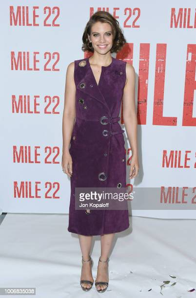 Lauren Cohan attends the Los Angeles Photo Call for STXfilms' Mile 22 at Four Seasons Hotel Los Angeles at Beverly Hills on July 28 2018 in Los...