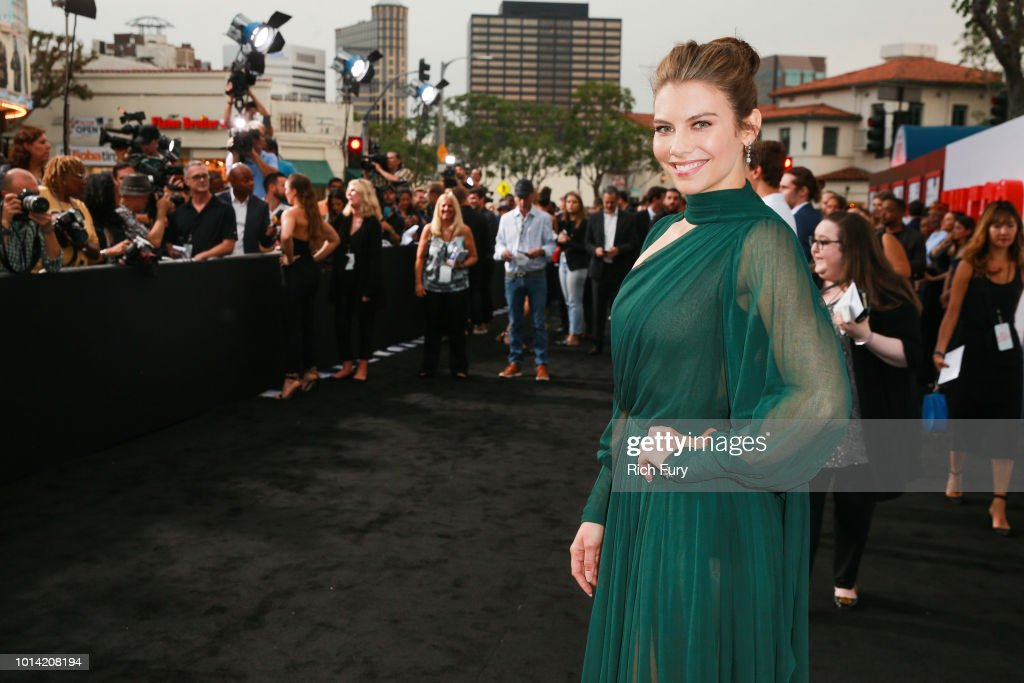 Lauren Cohan attends the premiere of STX Films' 'Mile 22' at Westwood Village Theatre on August 9, 2018 in Westwood, California.
