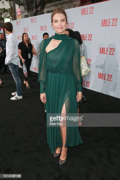 Lauren Cohan attends the premiere of STX Films' Mile 22 at Westwood Village Theatre on August 9 2018 in Westwood California