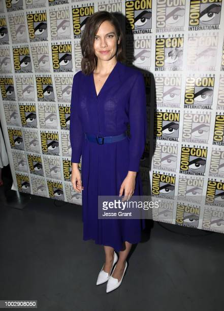 Lauren Cohan attends 'The Walking Dead' panel with AMC during during ComicCon International 2018 at San Diego Convention Center on July 20 2018 in...