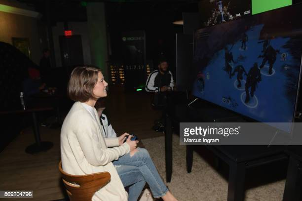 Lauren Cohan attends the Xbox One X Launch Event at 5Church on November 1 2017 in Atlanta Georgia