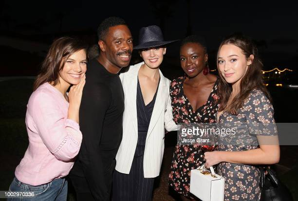 Lauren Cohan Colman Domingo Maggie Grace Danai Gurira and Alycia DebnamCarey attend a cocktail and dinner party with AMC during ComicCon...