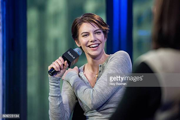 Lauren Cohan discusses the return of The Walking Dead and her role in Batman v Superman Dawn of Justice at AOL Studios In New York on February 9 2016...