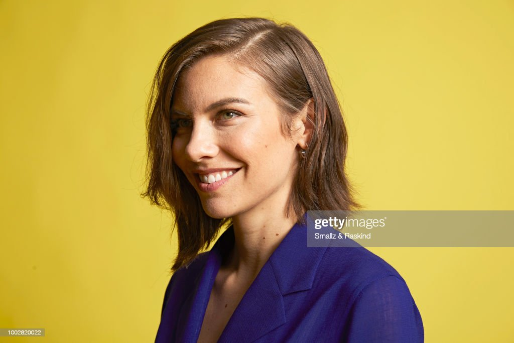 Lauren Cohan from AMC Networks 'The Walking Dead' poses for a portrait at the Getty Images Portrait Studio powered by Pizza Hut at San Diego 2018 Comic Con at Andaz San Diego on July 20, 2018 in San Diego, California.