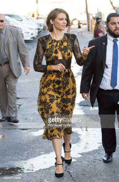 Lauren Cohan is seen at Jimmy Kimmel Live' on July 23 2018 in Los Angeles California