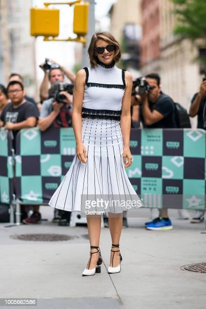 Lauren Cohan is seen in NoHo on July 26 2018 in New York City