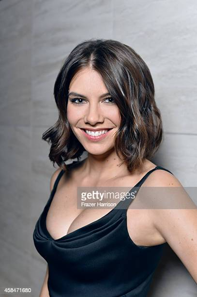 Lauren Cohan poses for a portrait at the amfAR LA Inspiration Gala on October 29, 2014 in Los Angeles, California.