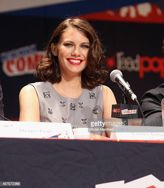 Lauren Cohan speaks at 'The Walking Dead' NY Comic Con Panel on October 11 2014 in New York City