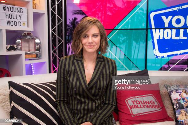 Lauren Cohan visits the Young Hollywood Studio on July 27 2018 in Los Angeles California