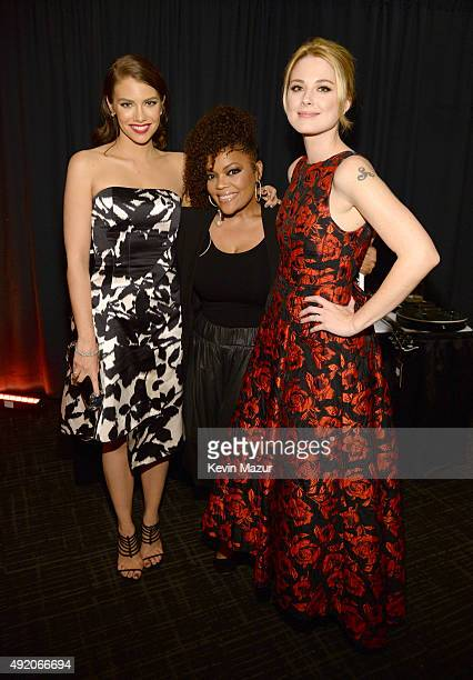 "Lauren Cohan, Yvette Nicole Brown and Alexandra Breckenridge attend AMC's ""The Walking Dead"" season 6 fan premiere event at Madison Square Garden on..."