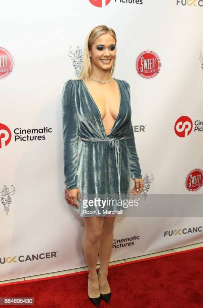 Lauren Compton attends the TJ Scott Book Launch for 'In The Tub Volume 2' at Cinematic Pictures Group Gallery on December 2 2017 in Hollywood...