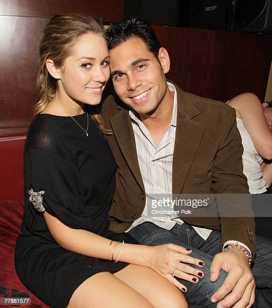 LOS ANGELES CA NOVEMBER 6 Lauren Conrad and Eric Podwall at the Maxim party for the videogame Assassin's Creed hosted by Kristen Bell at Club Opera...