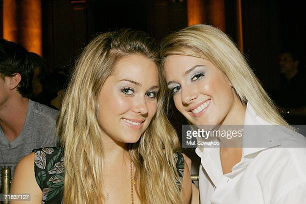 Lauren Conrad and Heidi Montag backstage at the Yellow Fever Clandestine Industries Spring 2007 fashion show at Capitale during Olympus Fashion Week...