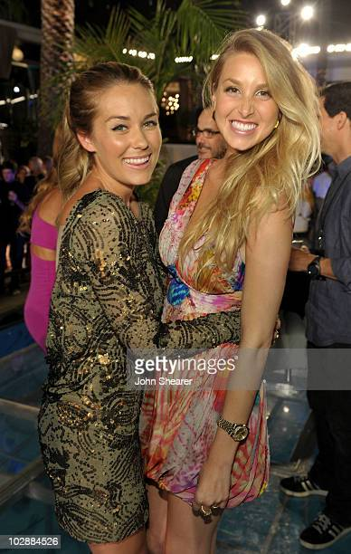 Lauren Conrad and Whitney Port attend MTV's The Hills Live A Hollywood Ending Finale event held at The Roosevelt Hotel on July 13 2010 in Hollywood...