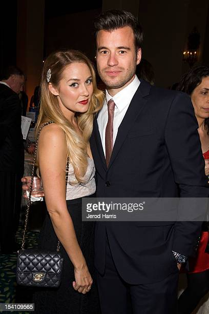 Lauren Conrad and William Tell attend 'Designs For The Cure' Gala For Susan G Komen at the Millennium Biltmore Hotel on October 13 2012 in Los...