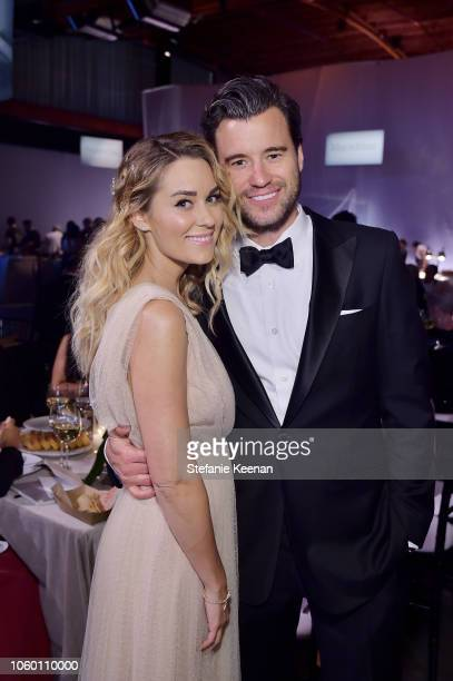 Lauren Conrad and William Tell pose at the 2018 Baby2Baby Gala Presented by Paul Mitchell at 3LABS on November 10 2018 in Culver City California