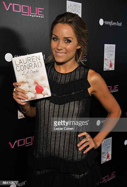 Lauren Conrad arrives at the LA Candy by Lauren Conrad book launch party sponsored by Vouge Eyewear and Sunglass Hut held at the Thompson Hotel on...