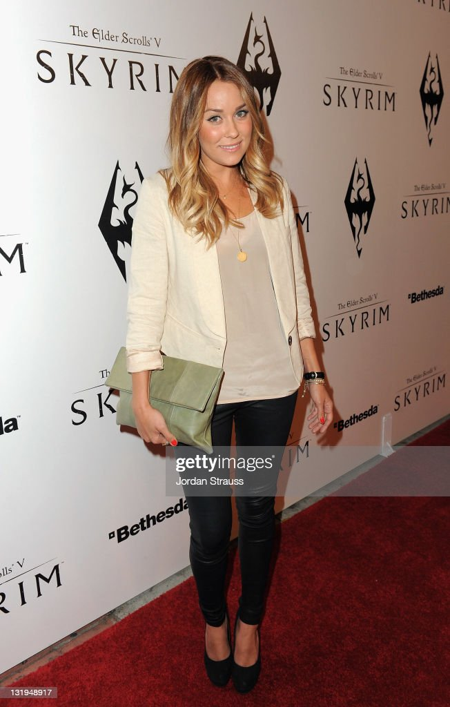 Lauren Conrad arrives at the official launch party for the most anticipated video game of the year, The Elder Scrolls