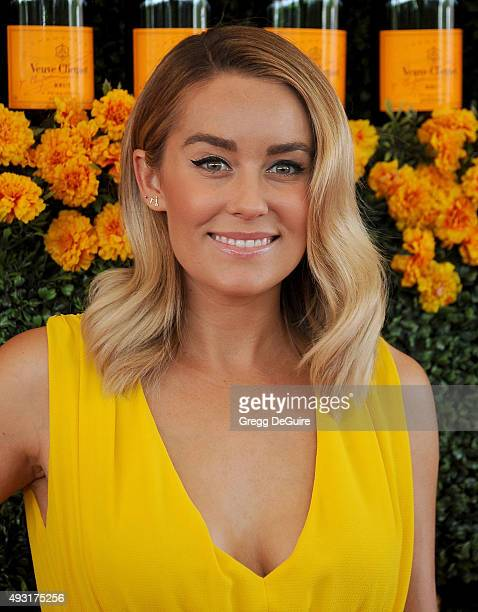 Lauren Conrad arrives at the SixthAnnual Veuve Clicquot Polo Classic Los Angeles at Will Rogers State Historic Park on October 17 2015 in Pacific...