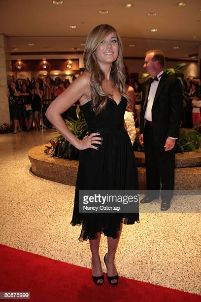 Lauren Conrad arrives at the White House Correspondents' Association dinner on April 26 2008 in Washington DC