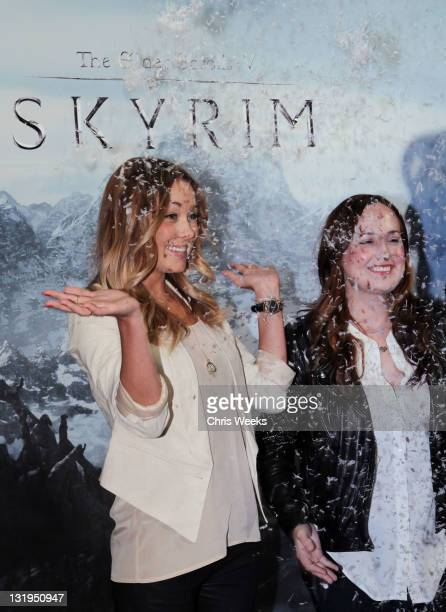 Lauren Conrad attends the official launch party for the most anticipated video game of the year The Elder Scrolls V Skyrim at the Belasco Theatre on...