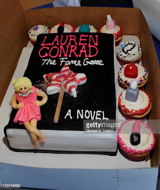 """Lauren Conrad Cake by Deb Biondolillo of Cake Dreams at """"The Fame Game"""" at Bookends Bookstore on April 4, 2012 in Ridgewood, New Jersey."""