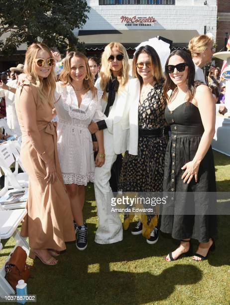 Hannah Skvarla Lauren Conrad Jennifer Meyer Rachel Zoe and Elyse Walker attend the Palisades Village grand opening private ribboncutting ceremony at...