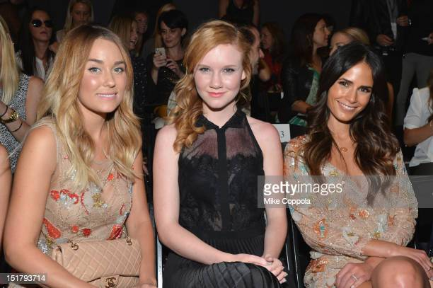 Lauren Conrad Madisen Beaty and Jordana Brewster attend the Jenny Packham Runway Show during the Spring 2013 MercedesBenz Fashion Week at The Studio...