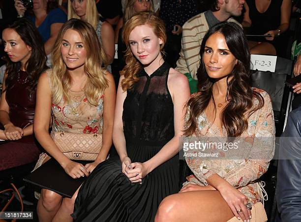 Lauren Conrad Madisen Beaty and Jordana Brewster attend TRESemme at Jenny Packham Spring 2013 MercedesBenz Fashion Week at The Studio at Lincoln...