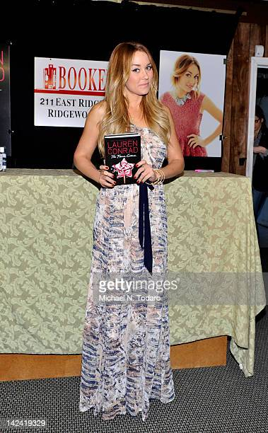 """Lauren Conrad promotes """"The Fame Game"""" at Bookends Bookstore on April 4, 2012 in Ridgewood, New Jersey."""