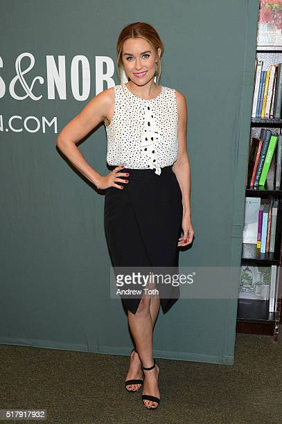 Lauren Conrad signs copies of her new book 'Lauren Conrad Celebrate' at Barnes Noble Tribeca on March 28 2016 in New York City