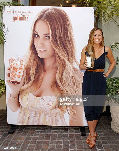 Lauren Conrad unveils her national Milk Mustache 'got milk' ad and encourages teens to drink milk to get gorgeous from the inside out at The Grove on...
