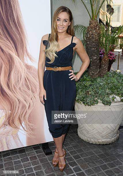 Lauren Conrad unveils her new national milk mustache 'Got Milk' campaign photo at The Whisper Lounge on June 15 2010 in Los Angeles California