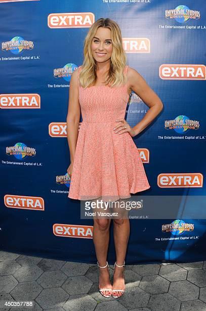 Lauren Conrad visits 'Extra' at Universal Studios Hollywood on June 9 2014 in Universal City California